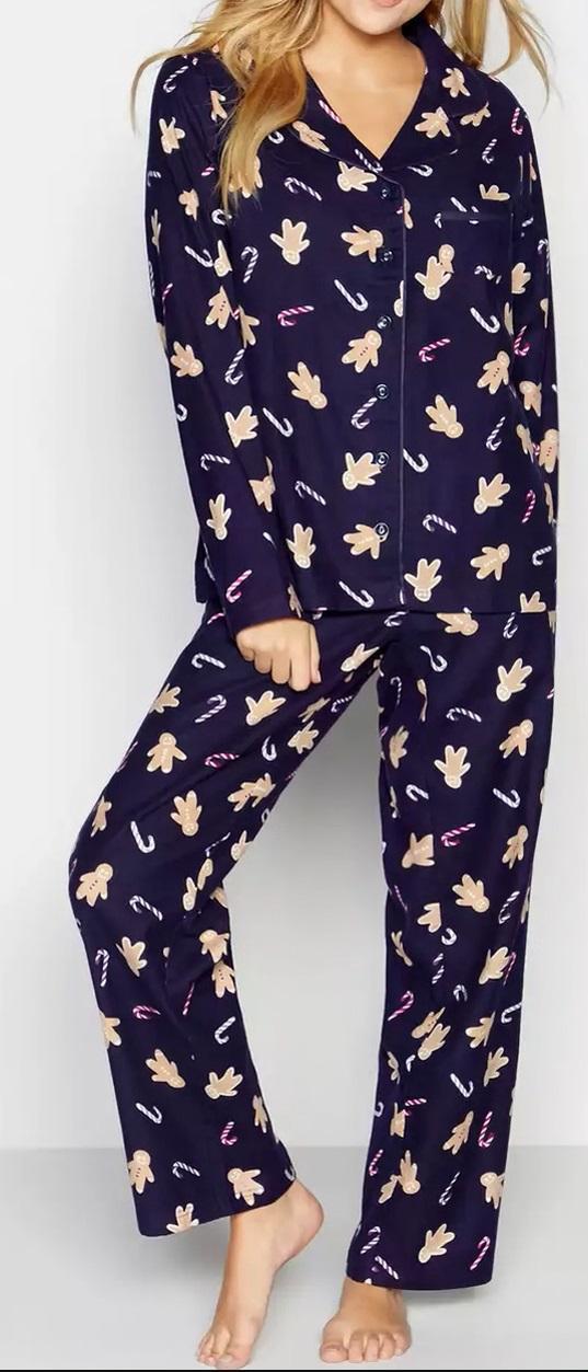 Petite Christmas Pyjamas Inseam 28 100% Cotton