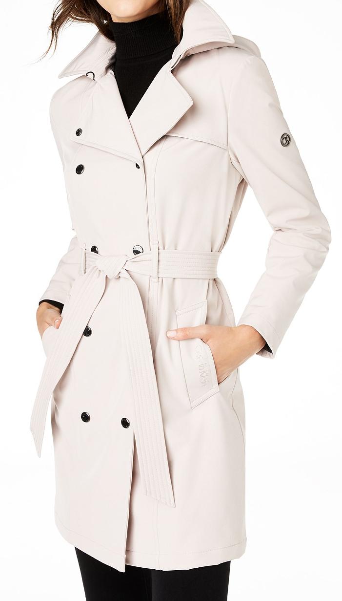 Calvin Klein Petite Trench Coat - Macy's Petite Coats