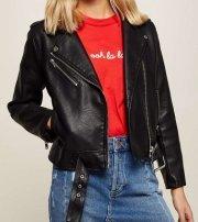 Petite PU Biker Jacket - MissSelfridge