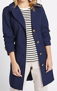 Petite Rain Coat MS - Navy