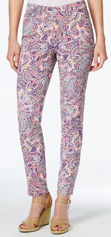 Petite Printed Skinny Jeans Short Inseam 26