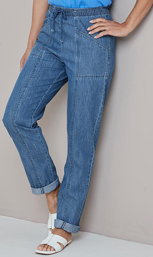 Drawcord Jeans Extra Short Inseam - 25