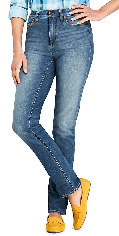 Petite High Rise Straight Leg Jeans - Inseam 26