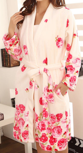 Petite Floral Robe and Dress Set