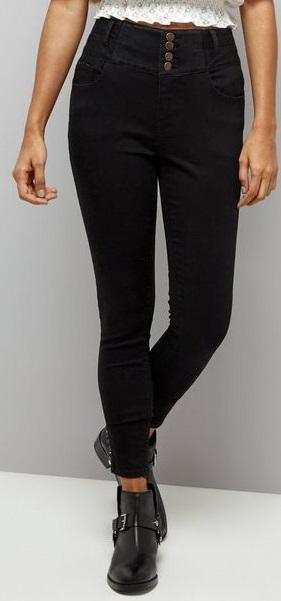 Petite Black Jeans Inseam 25