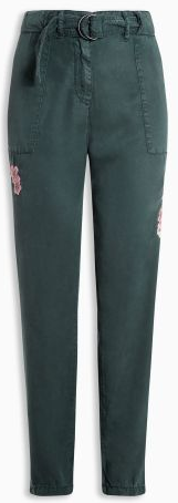 Petite Embroidered Cargo Pants