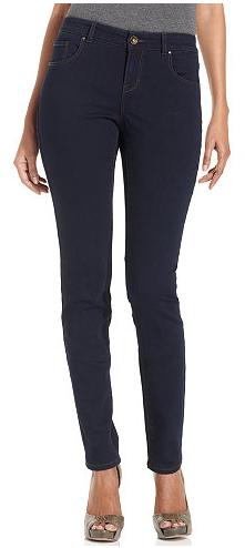 Petite Curvy-Fit Skinny Jeans Short 26