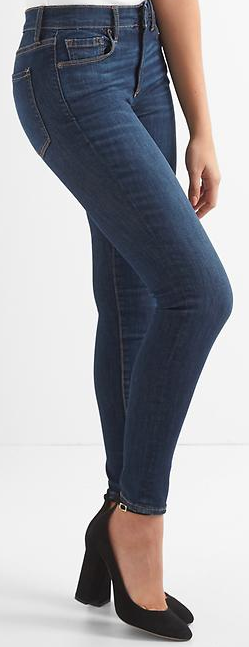 Petite Mid Rise Skinny Jeans Inseam 26