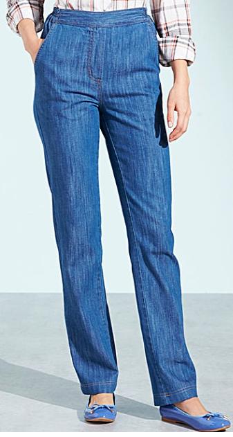 Short Pull-On Jeans for Petite Women Inseam Length 27