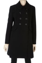 Petite Black Coat From Wallis