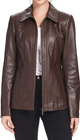 Petite Lambskin Leather Jacket - Amazon