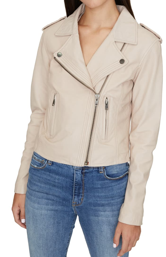 Petite Genuine Leather Moto Jacket - Nordstrom