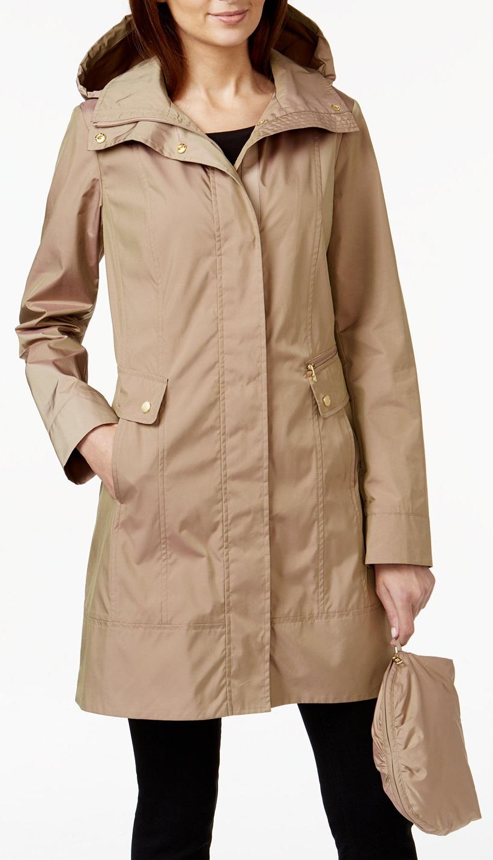 Petite Packable Raincoat - Macys