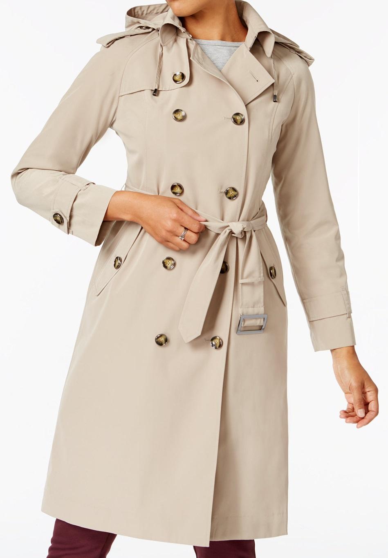 Petite Water-Resistant Raincoat - Macys