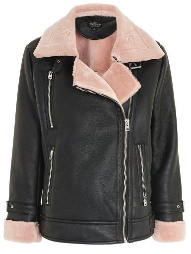 Women's Petite Faux Shearling Jacket - TopShop