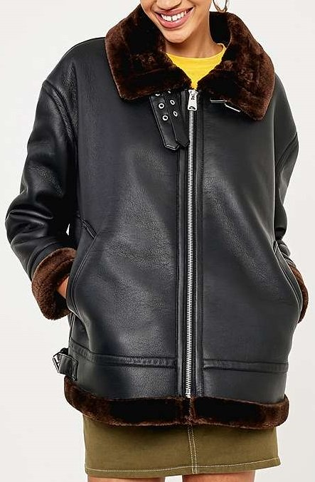 Petite Faux Shearling Leather - UO