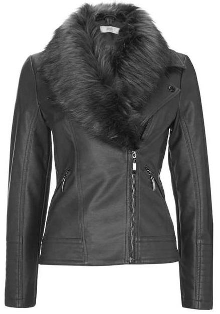 Petite Fur Biker Jacket - Wallis