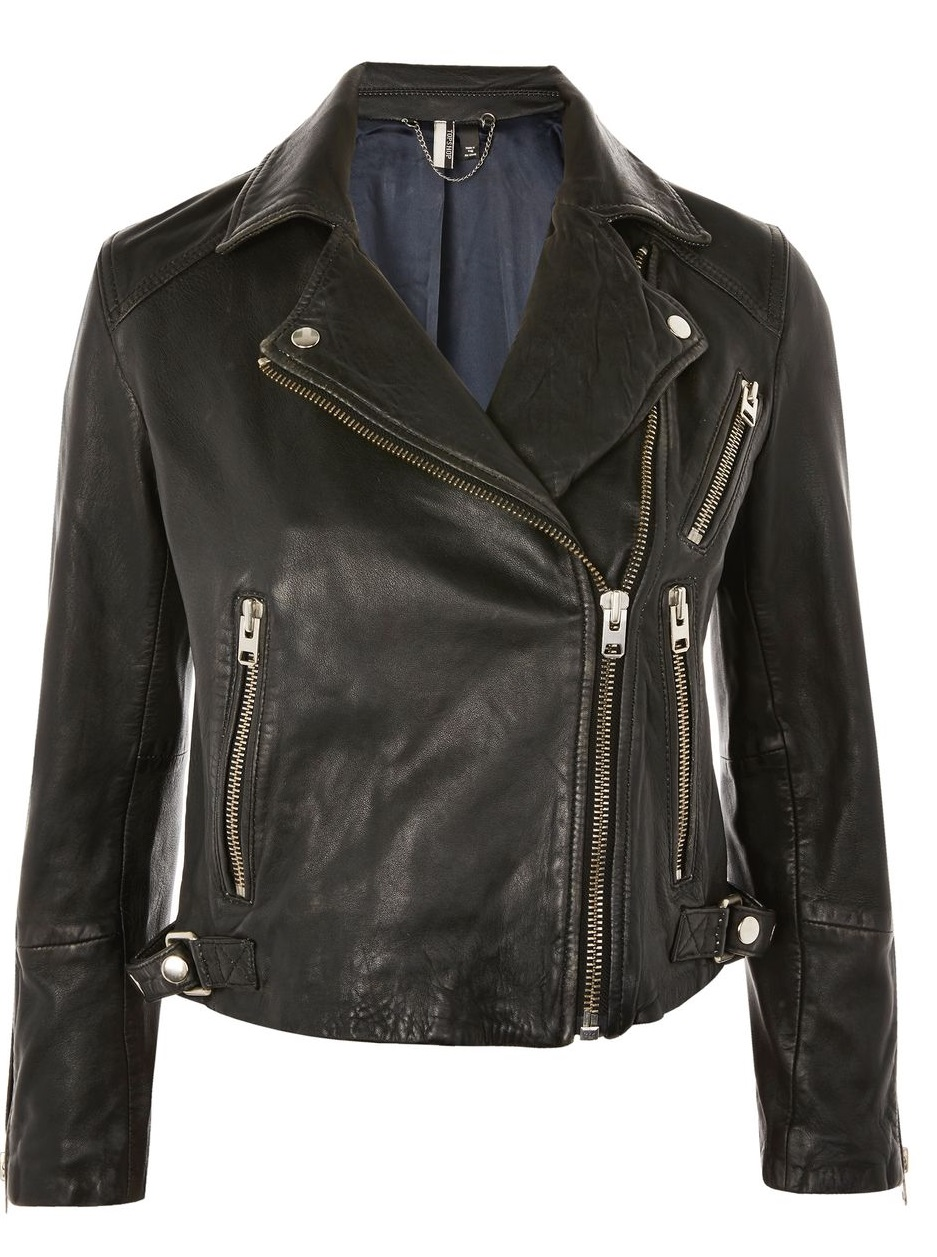 Petite Leather Jacket - Topshop